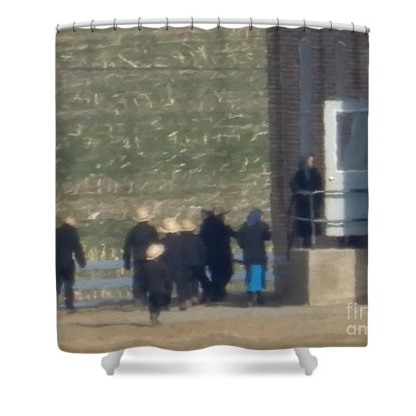 Heading Into The Schoolhouse Shower Curtain
