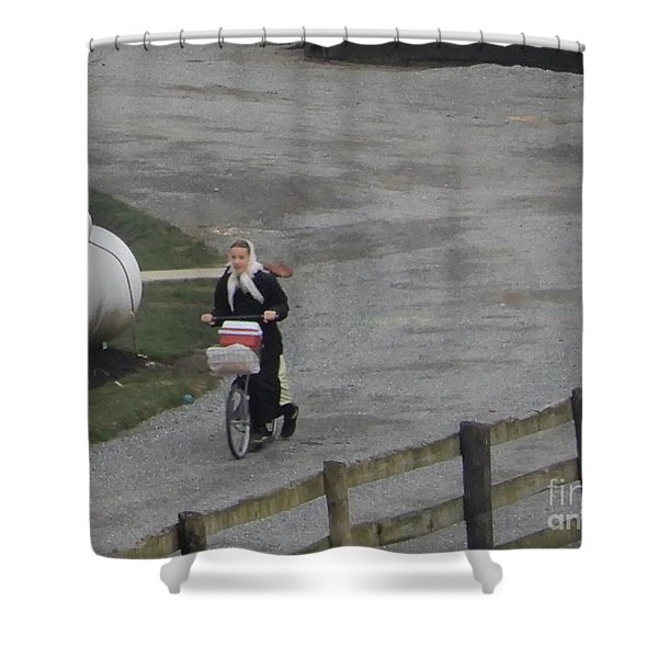 Heading Off To School Shower Curtain