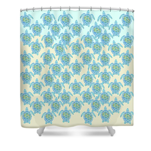 Baby Sea Turtles Heading Out To Sea Shower Curtain