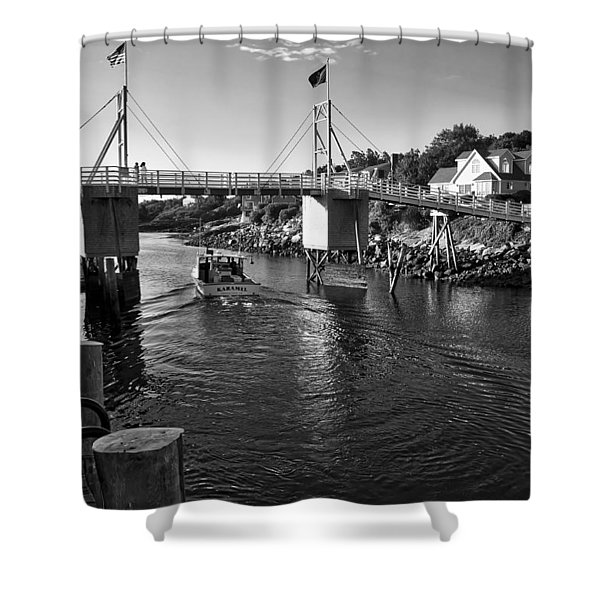 Heading To Sea - Perkins Cove - Maine Shower Curtain