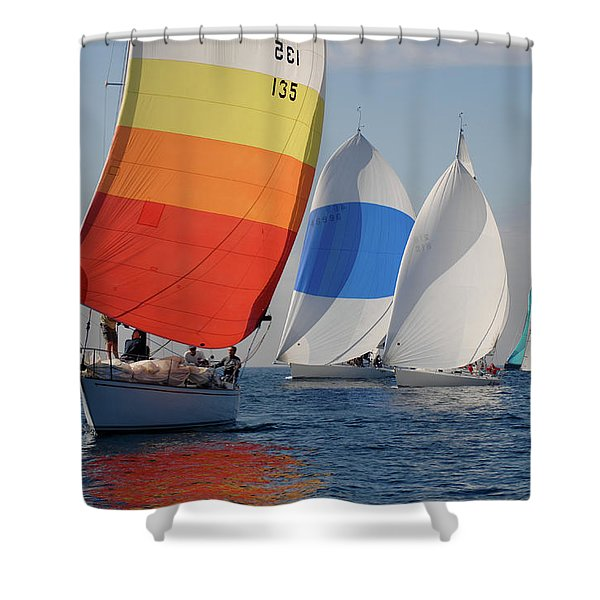 Heading Towind Windward Mark Shower Curtain