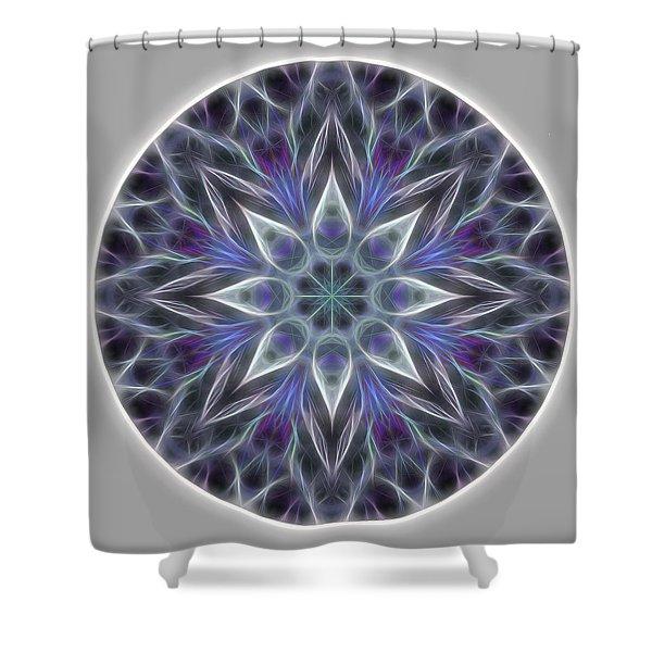 Health And Happiness Mandala Shower Curtain