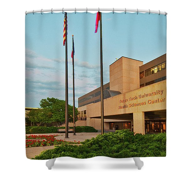 Shower Curtain featuring the photograph Health Sciences Medical Center by Mae Wertz