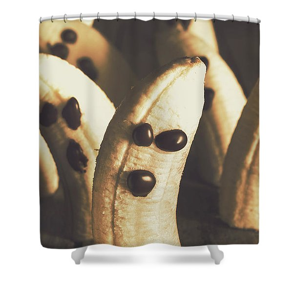 Healthy Rustic Trick-or-treat Halloween Snacks Shower Curtain