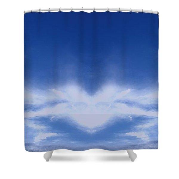 Heart Cloud Shower Curtain