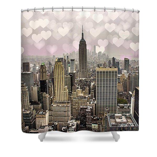 Heart Empire Shower Curtain