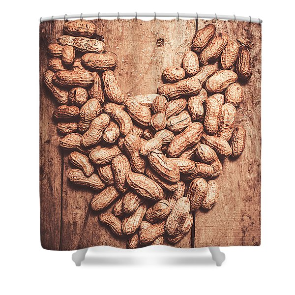 Heart Health And Nuts Shower Curtain