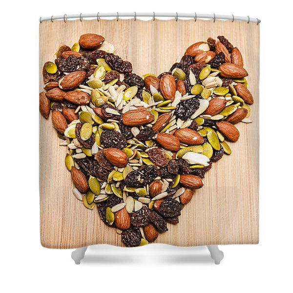Heart Healthy Snacks Shower Curtain
