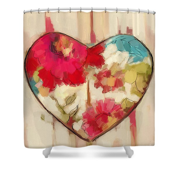 Heart In Stitches Shower Curtain