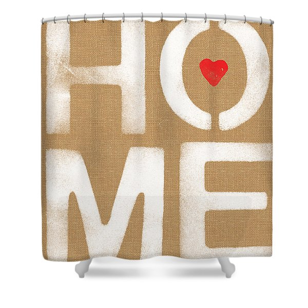 Heart In The Home- Art By Linda Woods Shower Curtain