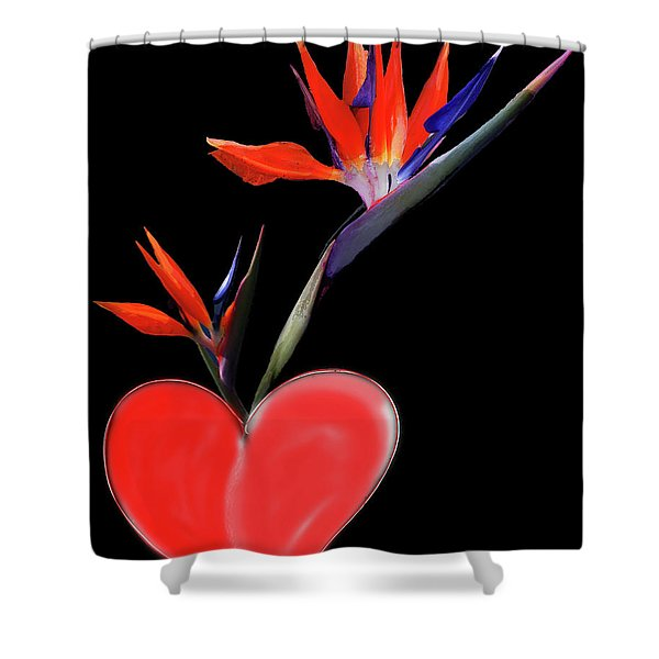 Heart  Of Paradise Shower Curtain