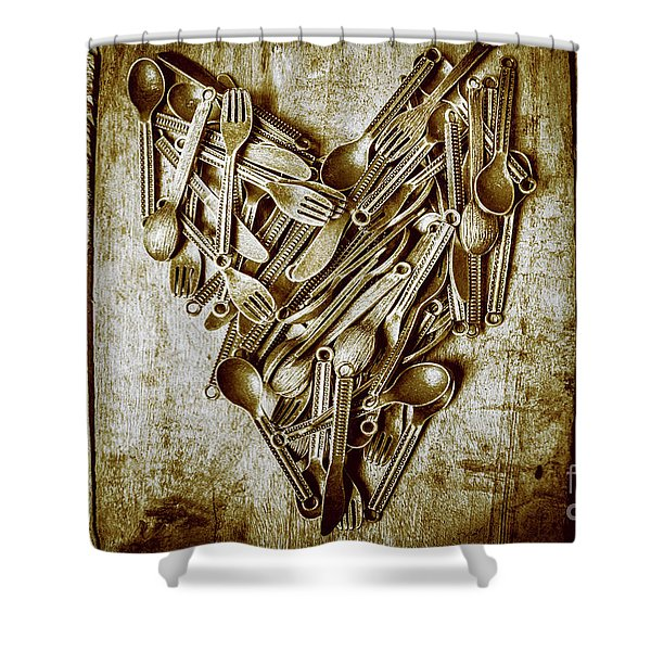 Heart Of The Kitchen Shower Curtain