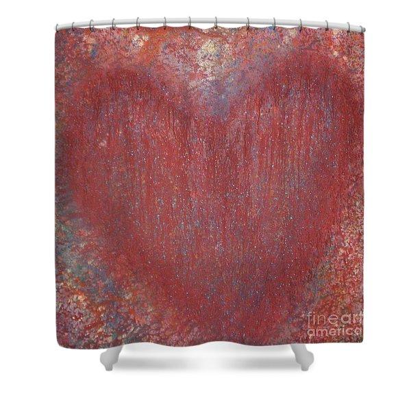 Heart Of The Matter Shower Curtain