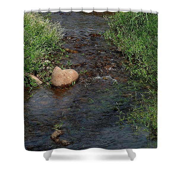 Heart Of The Stream Shower Curtain