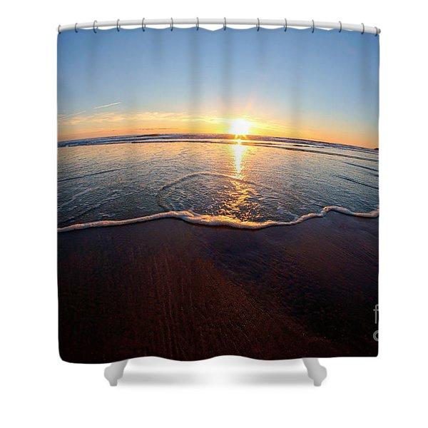 Heart Shape Wave Shower Curtain