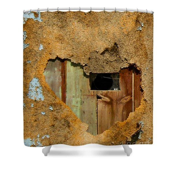 Heart Wall Shower Curtain