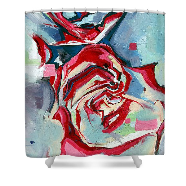Heartfelt Rose Shower Curtain