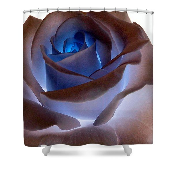 Shower Curtain featuring the photograph Heartglow Rose by Writermore Arts