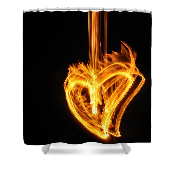 Hearts Aflame -falling In Love Shower Curtain