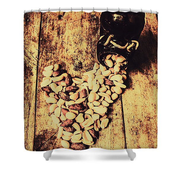 Hearts And Spills Shower Curtain