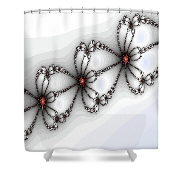 Hearts Of Fire Shower Curtain