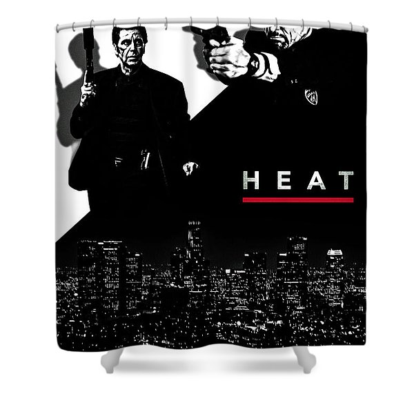 Heat Alternative Poster Shower Curtain