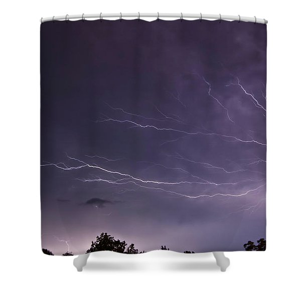 Heat Lightning Shower Curtain