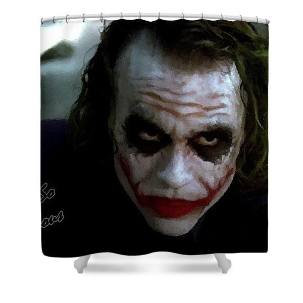 Heath Ledger Joker Why So Serious Shower Curtain