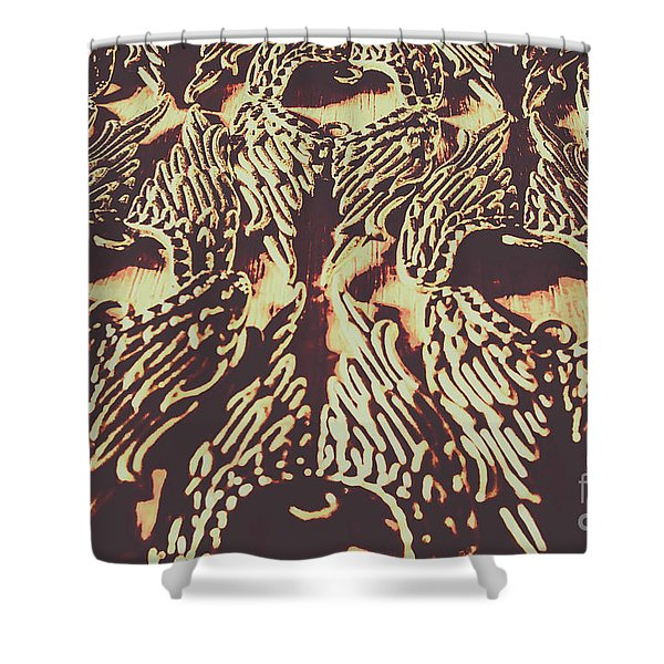 Heavenly Antique Shower Curtain