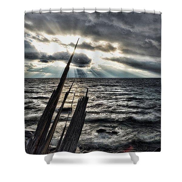 Heavenly Beams Shower Curtain