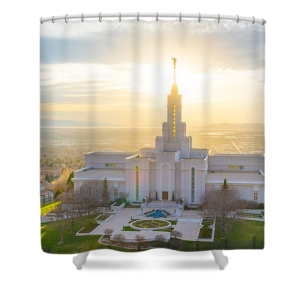 Heavenly Glow Shower Curtain