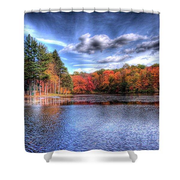 Heaven's Blue Shower Curtain