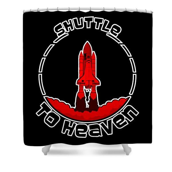 Heavens Shuttle Shower Curtain
