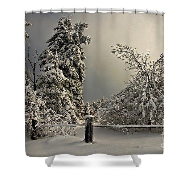Heavy Laden Shower Curtain