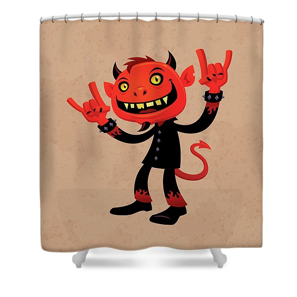 Heavy Metal Devil Shower Curtain