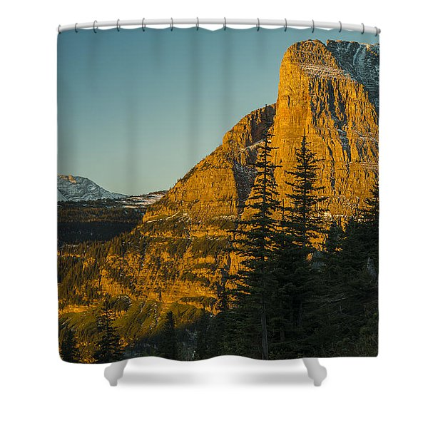 Heavy Runner Mountain Shower Curtain