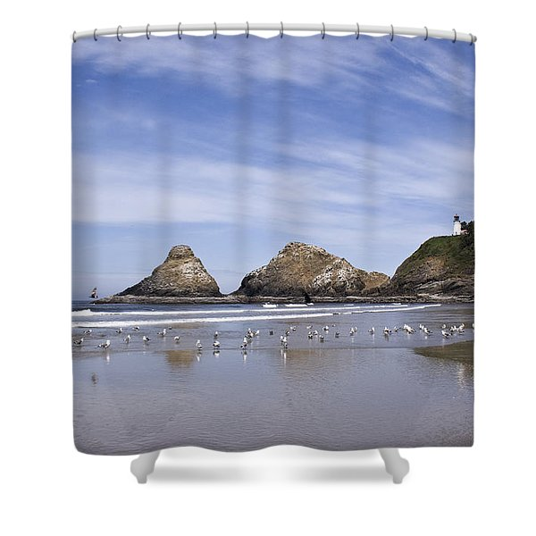 Heceta Head Lighthouse 1 Shower Curtain