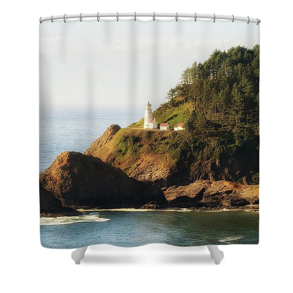 Shower Curtain featuring the photograph Heceta Head Lighthouse by Michael Hope