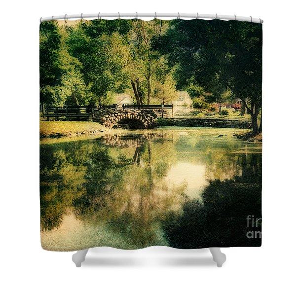 Heckscher Park Pond, Huntington Ny Shower Curtain