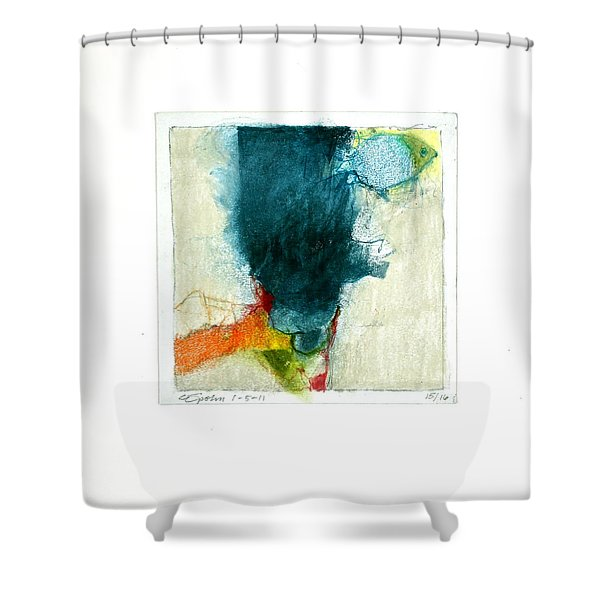 Shower Curtain featuring the drawing Hedgefishog  --start-- by Cliff Spohn