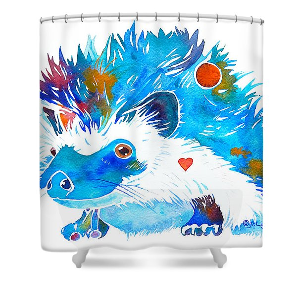 Hedgehog With Heart Shower Curtain