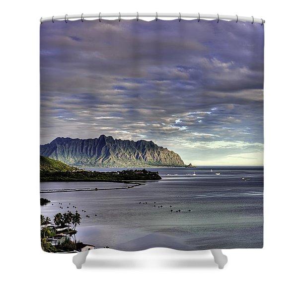 He'eia And Kualoa 2nd Crop Shower Curtain