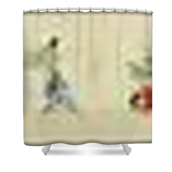 Hegassen Scroll 36 Parts Shower Curtain