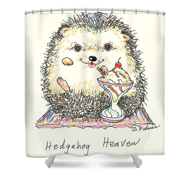 Hedgehog Heaven Shower Curtain