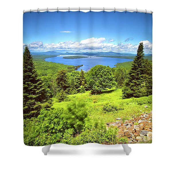 Height Of Land Shower Curtain