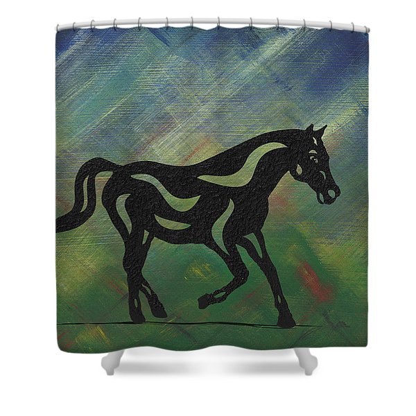 Heinrich - Abstract Horse Shower Curtain
