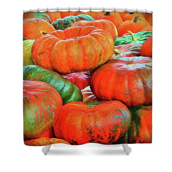 Heirloom Pumpkins Shower Curtain