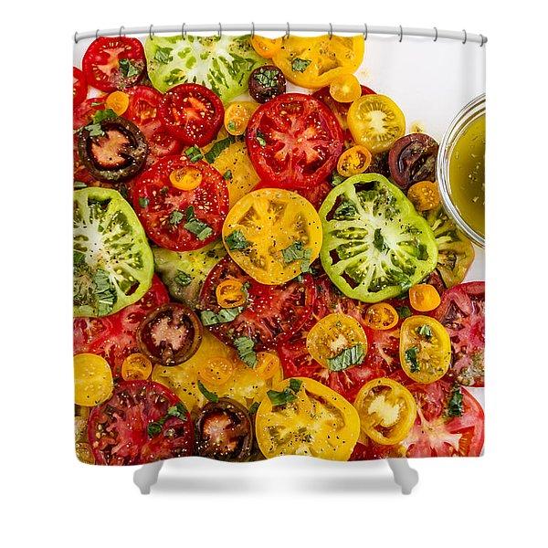 Heirloom Tomato Slices Shower Curtain