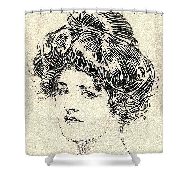 Helen, A Gibson Girl Shower Curtain