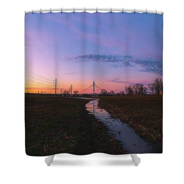 Heliotrope Shower Curtain